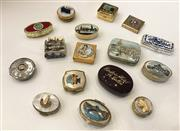 Sale 8436A - Lot 11 - A group of 15 assorted pill boxes with souvenir themes.