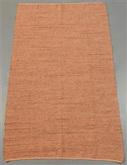 Sale 8438K - Lot 106 - Soft Terracotta Woven Leather Rug | 300x200cm, Pure Leather, Handwoven Leather Flatweave RugHandcrafted using recycled leather and ...