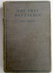 Sale 8639 - Lot 19 - The Grey Battalion, by Mary Tilton, Nursing Sister with the AIF 1915-1918, published by Angus and Robertson Sydney 1933, damaged clo...
