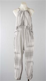 Sale 8740F - Lot 261 - A Zimmermann printed silk jumpsuit with elasticated cuffs,  size 0.