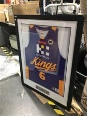 Sale 8707 - Lot 2090 - Sydney Kings Framed Jersey