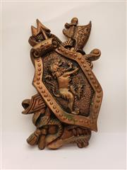 Sale 9049 - Lot 90 - Bronze Effect Wall Mount Coat of Arms (h:50cm)