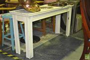 Sale 8227 - Lot 1058 - Bamboo Style Hall Table