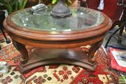 Sale 8262 - Lot 1023 - Circular Coffee Table with glass insert top