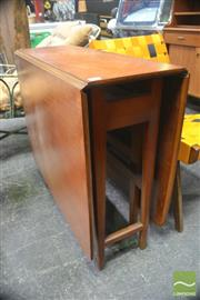 Sale 8326 - Lot 1018 - Teak 1960s Drop Leaf Table