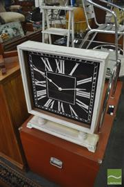 Sale 8337 - Lot 1097 - Timber Framed Clock on Stand