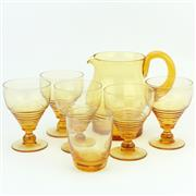 Sale 8356A - Lot 20 - Stuart Crystal Amber Stratford Lemonade Drinks Set