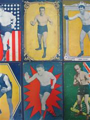 Sale 8419A - Lot 11 - Early Boxing - 15 postcard programmes with many from 1914 including Jeff Smith, Fritz Holland and other stadium fighters
