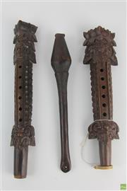 Sale 8551 - Lot 12 - A collection ethnographic flutes from Indonesia and PNG