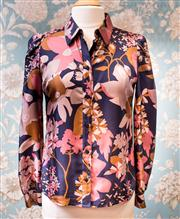 Sale 8577 - Lot 156 - A See by Chloe 100% silk floral blouse, size 12, Condition: Very Good