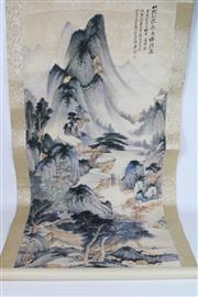 Sale 8748 - Lot 55 - A Chinese Scroll with Mountain Scene After Zhang Daqin