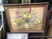Sale 8841 - Lot 2056 - Artist Unknown Hydrangeas oil on board, 56 x 72cm, unsigned