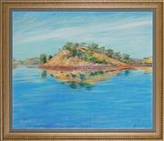Sale 8891 - Lot 2079 - Terence ODonnell (1942 - ) - An Island with Reflections, Lake Julius, Queensland, 1986 64 x 76 cm