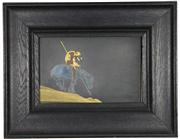 Sale 8040 - Lot 49 - Shakudo Bronze Signed Plaque After End of the Trail by Fraser