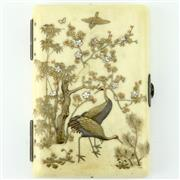 Sale 8332 - Lot 71 - Meiji Ivory Shibayama Notebook