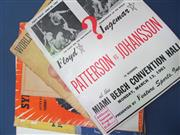 Sale 8419A - Lot 12 - Boxing Programmes 1930s-1960s - a bundle of including Patterson vs Johansson 1961 and Armstrong vs Roderick 1939