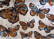 Sale 8442A - Lot 24 - David Bromley (1960 - ) - Butterflies 72 x 100cm