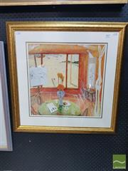 Sale 8548 - Lot 2017 - Brett Whiteley Interior with Time Past, decorative print, 67 x 67cm (frame size)