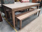 Sale 8863 - Lot 1089 - Havana Three Piece Dining Suite incl. Table and Pair of Benches