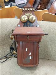 Sale 8872 - Lot 1020 - Vintage Wall Mount Telephone