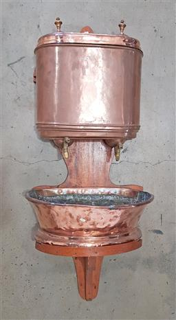 Sale 9126 - Lot 1188 - French copper 2 piece water fountain