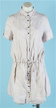 Sale 9090F - Lot 115 - A SAMBAG CASUAL BUTTON UP MINI DRESS; with ruched waist and gold press stud buttons,  Size M