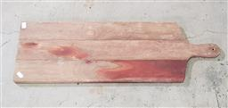 Sale 9255 - Lot 1081 - Timber cheese board (h:75 x d:25cm)
