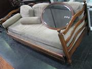 Sale 7932A - Lot 1185 - German Provincial Style Beech Settee Converting to a Trundle Bed
