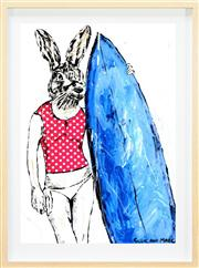 Sale 8019A - Lot 77 - Gillie and Marc (XXI -) - She surfed everyday except for sunday when she was hungover 84 x 60cm