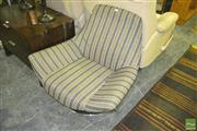 Sale 8227 - Lot 1096 - James Richardson Morbid Line Swivel Chair with Striped Upholstery