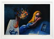 Sale 8266 - Lot 559 - Charles Blackman (1928 - ) - Alice Sleeping 66 x 97cm