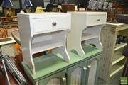Sale 8440 - Lot 1089 - Pair of Single Drawer Bedsides