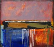 Sale 8549 - Lot 577 - Chris Kenyon - Sunset Berrima Creek, 2001 71 x 84cm