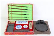 Sale 8849 - Lot 58 - A Chinese Calligraphy Set Together with an Ink Stone (17cmx15cm)