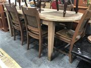 Sale 8889 - Lot 1044 - Oval Recycled Elm Dining Table on Tapering Legs