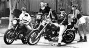 Sale 8912A - Lot 5049 - Dykes on Bikes motorcycle group, Sydney Gay and Lesbian Mardi Gras Parade (1991), 30 x 17 cm, silver gelatin, Photographer: Robert P...