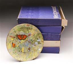 Sale 9098 - Lot 100 - A Set Of Four Wedgwood Butterfly Cabinet Plates
