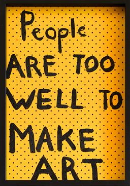 Sale 9153A - Lot 5006 - RICHARD LEWER (1970 - ) - People Are Too Well To Make Art, 2002 62 x 41 cm