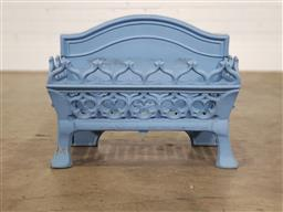 Sale 9255 - Lot 1448 - Early painted Victorian style cast iron firebox (h37 x w46 x d23cm)