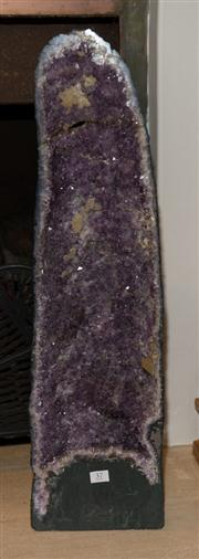 Sale 7984 - Lot 37 - A large amethyst cave. Height 73cm