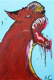 Sale 8259 - Lot 565 - Adam Cullen (1965 - 2012) - Untitled (Wild Cat) 91 x 61cm