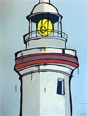 Sale 8442A - Lot 25 - Jasper Knight (1978 - ) - Cape Byron Lighthouse 102.5 x 76cm