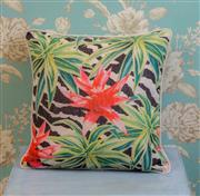 Sale 8500A - Lot 52 - A decorative Tropical Flower print 100% Linen Cushion - Condition: As New - Size: 45cm