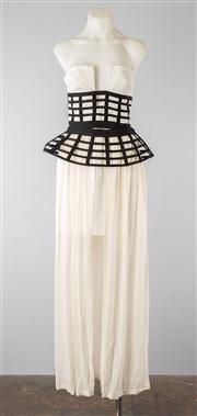 Sale 8740F - Lot 239 - A Sass and Bide Strength to Strength sleeveless, layered dress with a peplum crinoline, size 42/12 (as new with tags)