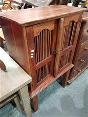 Sale 8717 - Lot 1057 - Mahogany Entertainment Cabinet
