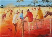 Sale 8791 - Lot 502 - Keith Naughton (1925 - ) - Pinnarro Yards, Qld 23 x 34cm