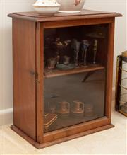 Sale 8926K - Lot 26 - A Late C19th Cedar table top display cabinet, H 61 x W 50 x D 28cm