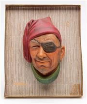 Sale 9052 - Lot 27 - Bossons wall mask of a smuggler (L15cm)