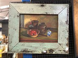 Sale 9163 - Lot 2001 - Artist Unknown Still Life, oil on canvas, frame: 51 x 61 cm, unsigned