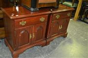 Sale 8093 - Lot 1415 - Pair of Timber Bedside Cabinet
